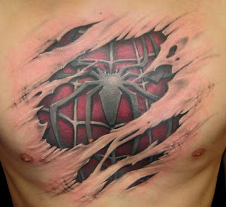 Amazing Design Spider 3D Tattoo