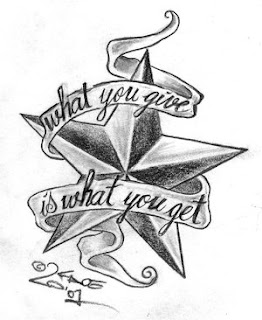 Star Tattoo Design With Letter
