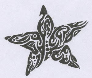 Tribal Star Tattoo Design