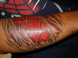 Arm 3D Spider Tattoo Design