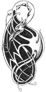 Celtic Dragon Tattoo Design 5