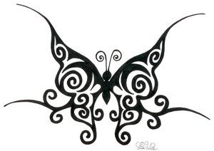Tribal Butterfly Tattoo Design 6