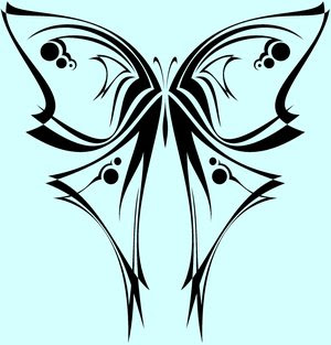 Tribal Butterfly Tattoo Design 5