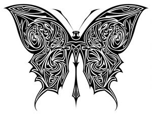 Tribal Butterfly Tattoo Design 2