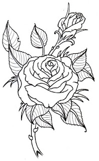 Flower Rose Tattoo Design 6