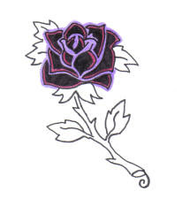 Flower Rose Tattoo Design 7