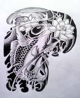 Tatatatta collection japanese koi fish tattoo designs for Japanese coy fish tattoo