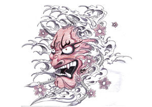 Japanese Tattoo With Image Japanese Mask Tattoos Especially Japanese Hannya Mask Tattoo Design 10