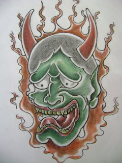 Japanese Tattoo With Image Japanese Mask Tattoos Especially Japanese Hannya Mask Tattoo Design 6