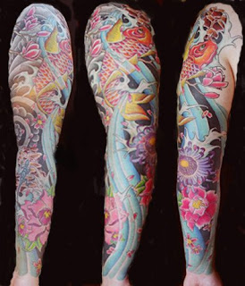 Sleeve Japanese Tattoos Especially Koi Fish Tattoo Designs With Image Japanese Sleeve Koi Fish Tattoo Gallery Pictures 4
