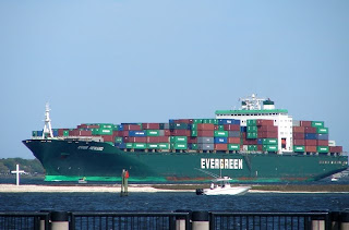 Larger than life container ship