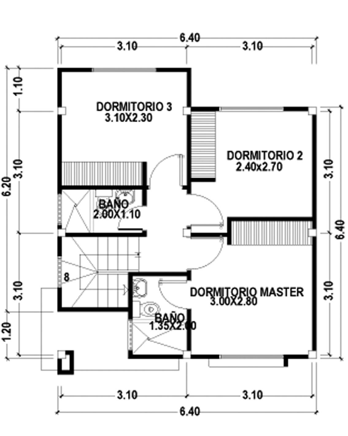 Construccion De Baño En Planta Alta:Plano Interior – Planta Alta