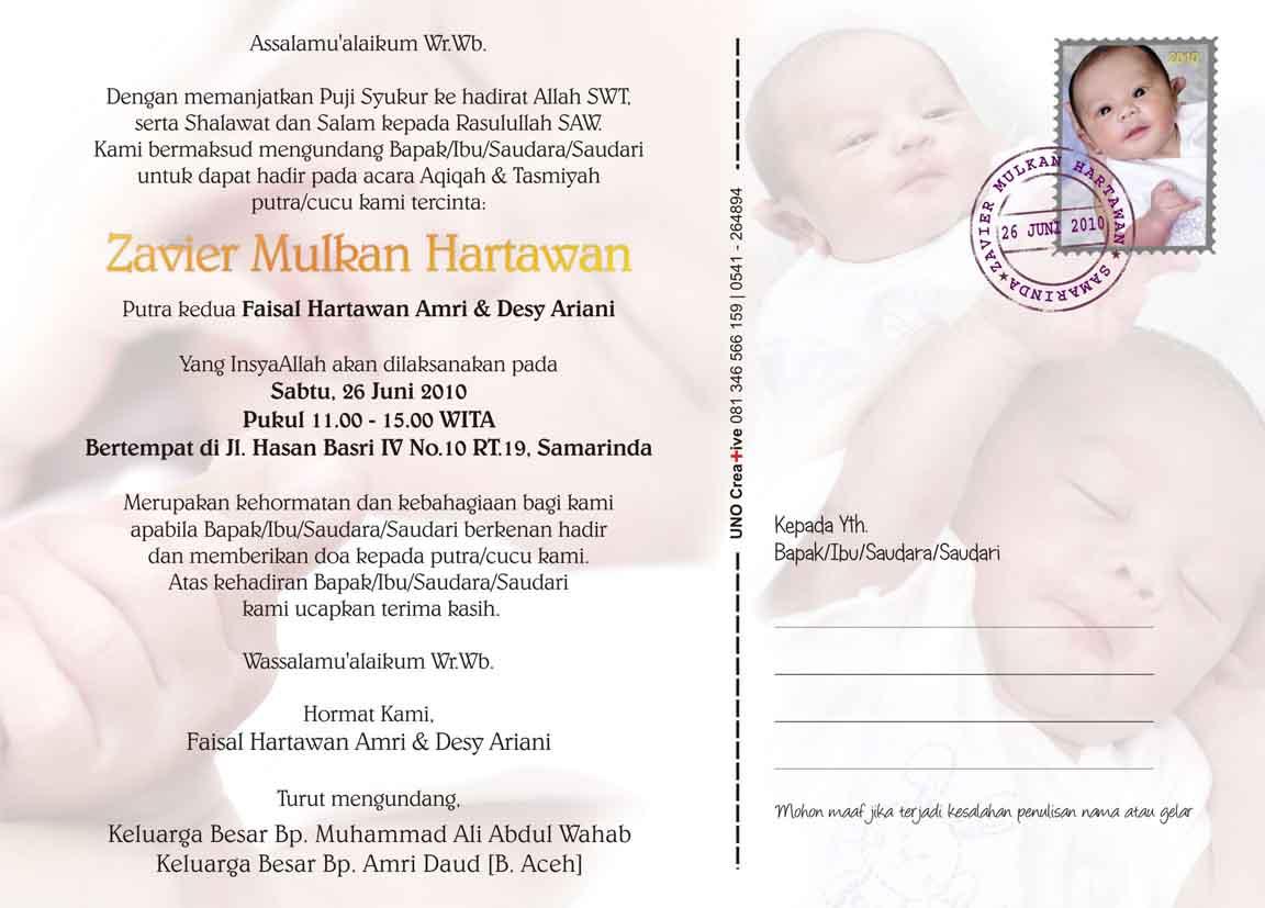 Undangan Tasmiyah & Aqiqah