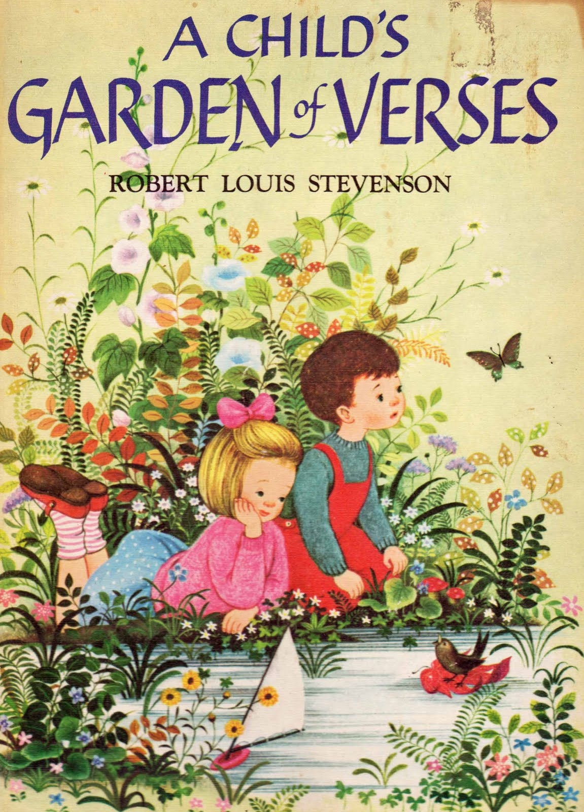 Vintage kids 39 books my kid loves a child 39 s garden of verses for Children s books about gardening