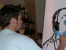 Pintando a Juanchu .