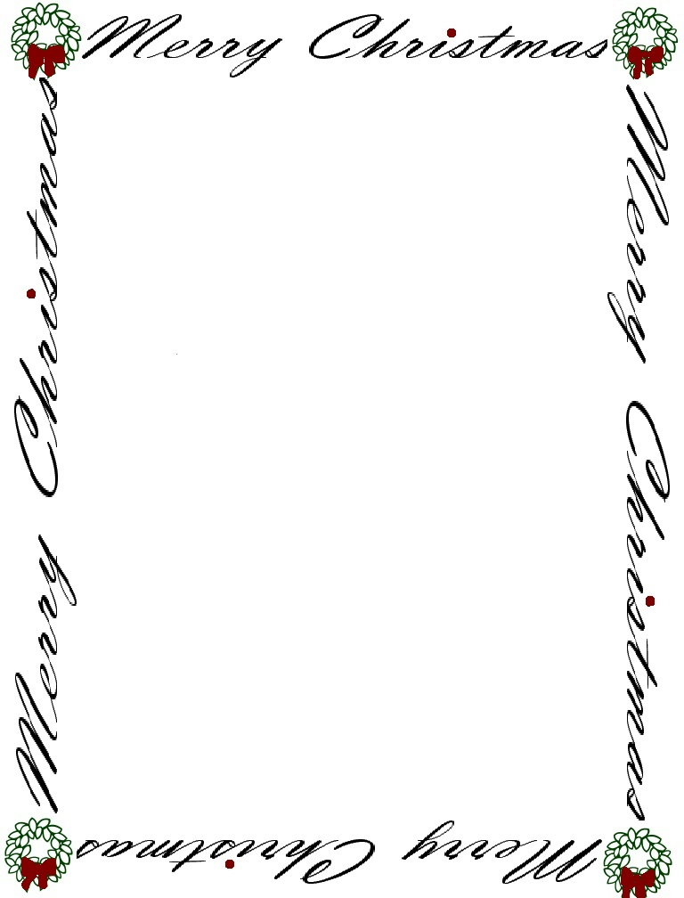 It's just a picture of Persnickety Free Printable Christmas Letterhead