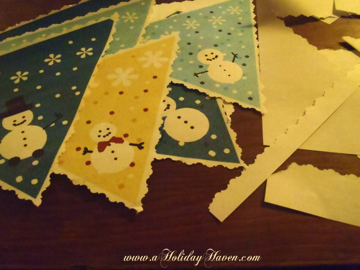 Printable Snowman Patterns Cut Out Next cut out the banner with