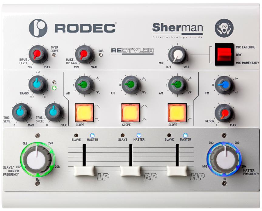 sherman rodec restyler analog filter