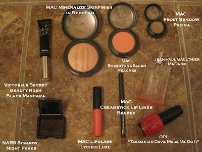 peach makeup. peach palette mixed in
