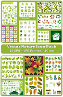 Green nature vector