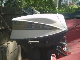 Evinrude 40 HP Big Twin http://1961glastron.blogspot.com/2010/09/how-it-all-began.html