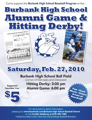 LindaS Burbank High School Blog Bhs Alumni Baseball Flyer
