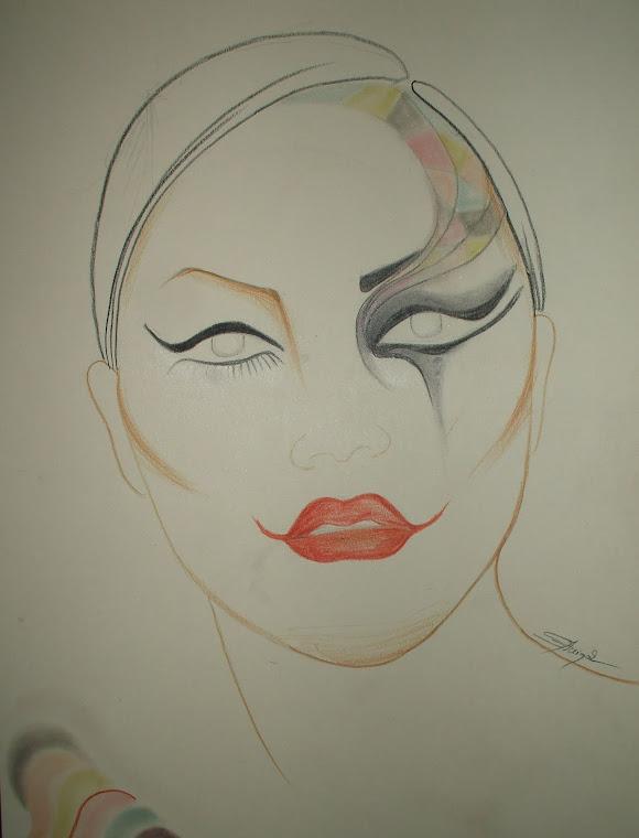 """sketch- """"""""arlequin 1"""""""