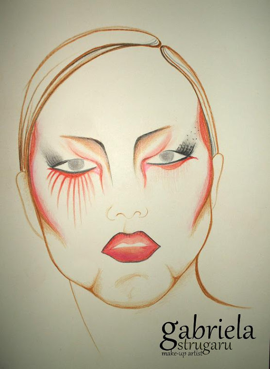 artistic make-up sketch