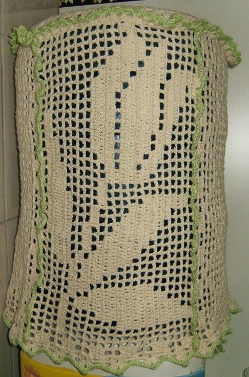De Salto Alto: Capa para galão de água em crochê
