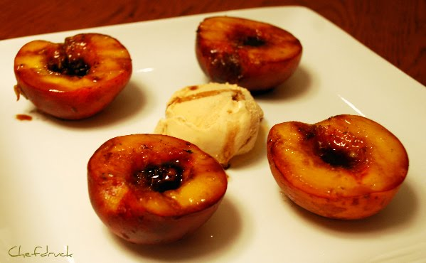 Grilled Peaches over Ice Cream: the Perfect Summer Dessert