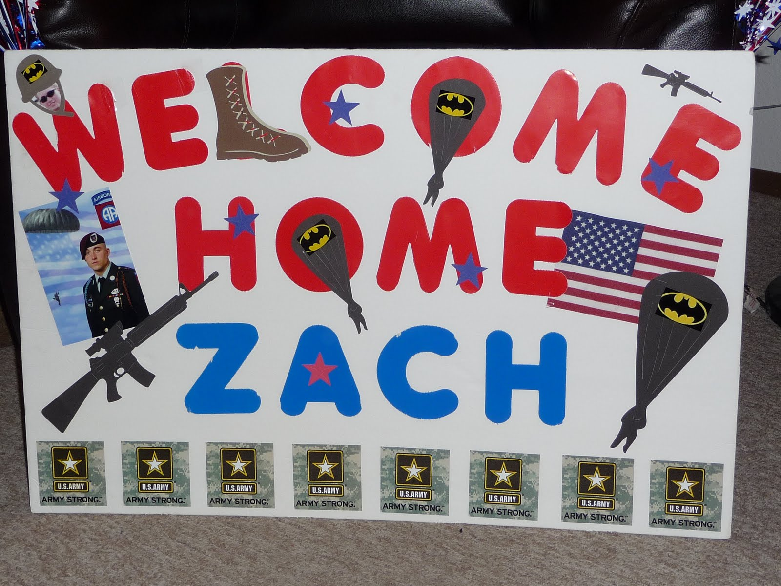 Scrap me with style welcome home soldier for Welcome home troops decorations