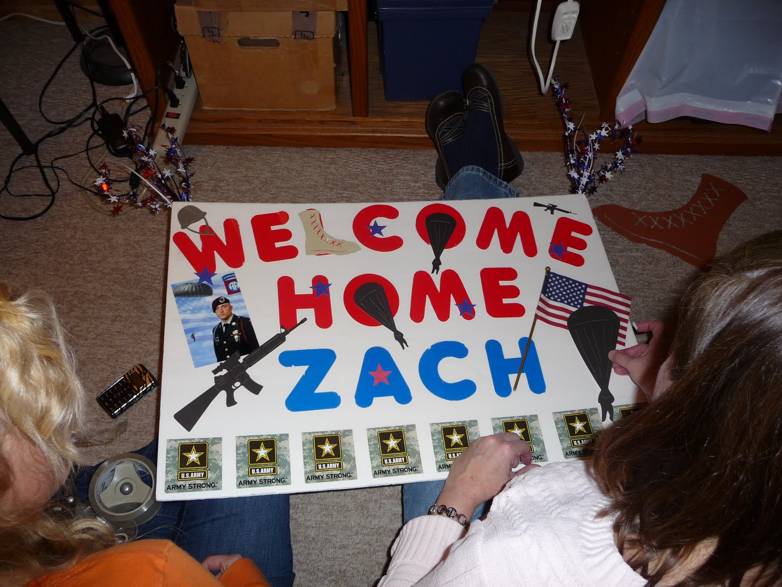 scrap me with style welcome home soldier
