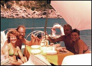 i quattro a bordo della Mabru