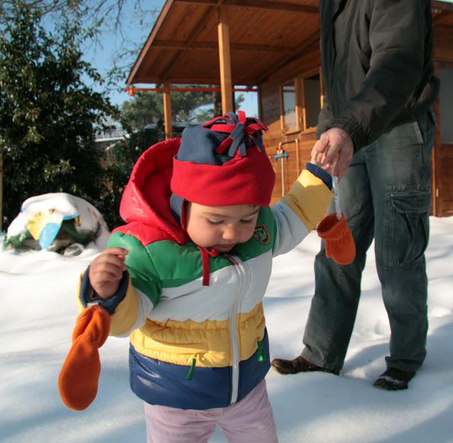 la gnoma e la sua prima neve