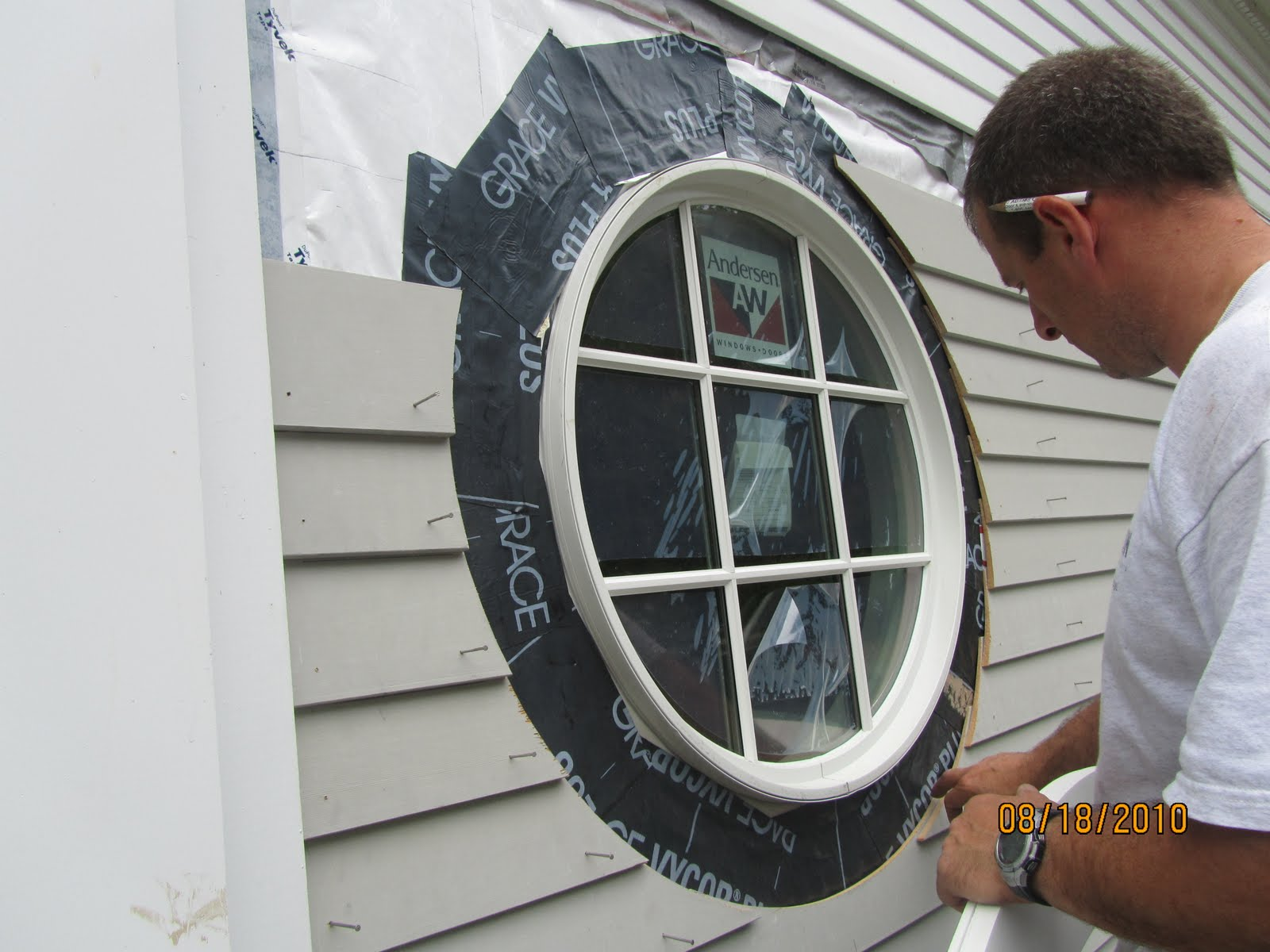 How to flash a circle window a concord carpenter for Window with round top