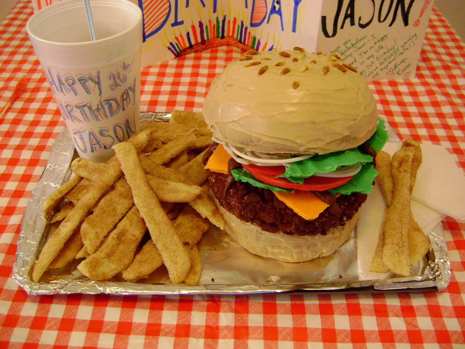 A Karen Cake Jasons Birthday Hamburger Cake