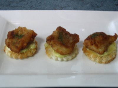 Fried Fish Canape