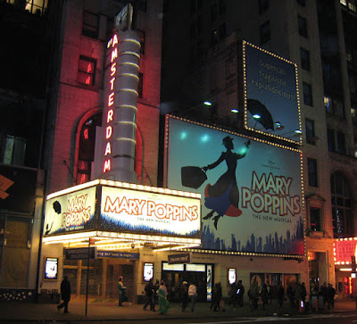 Disney's Mary Poppins is playing on Broadway at the New Amsterdam theater in New York City