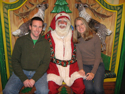 Ken and Ashley visit with Santa Claus at Macy's New York
