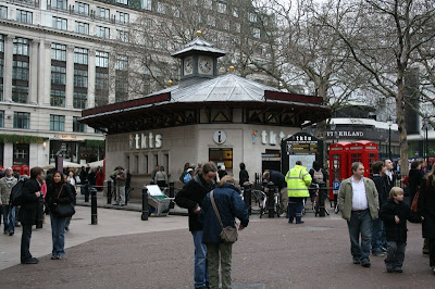 The TKTS Booth in Leicester Square in London, England