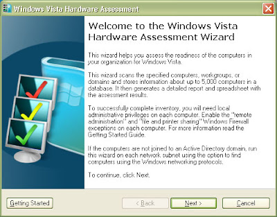 Microsoft Windows Vista Hardware Assessment Picture 1