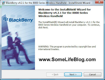 Blackberry 8800 Desktop Manager Client Installation for Microsoft Vista 64-bit (x64) Step  3