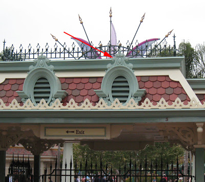 Hidden Mickey Disneyland Entrace Scrollwork