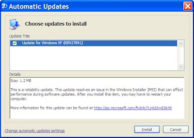 Microsoft Windows Update Services SVCHOST 100% CPU Fixed with Update KB927891