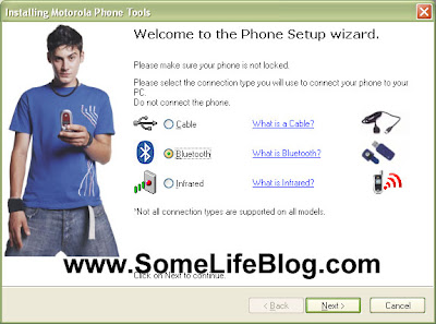 Bluetooth Cell Phone Configuration for Motorola Phone Tools Step 2