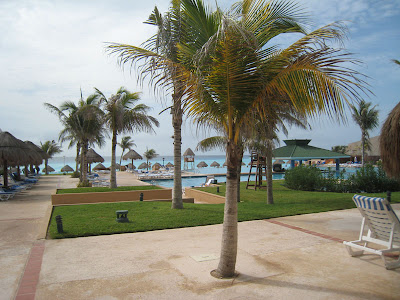 Poolside at Hilton Cancun Beach & Golf Resort