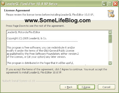 License agreement for the free LeaderGL FlexEditor 10.8 XP installation free P2K drivers and software for Motorola V3