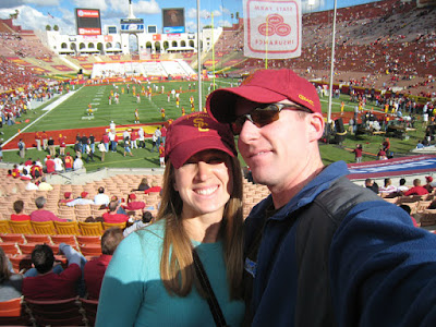 Ken and Ashley at the USC vs. WSU game on September 22, 2007