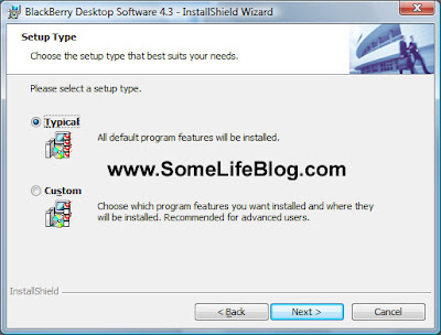Choose the typical installation type unless you need security certificate synchronization.  Click next to continue.