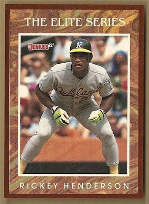 1991 Donruss Elite Card of Rickey Henderson